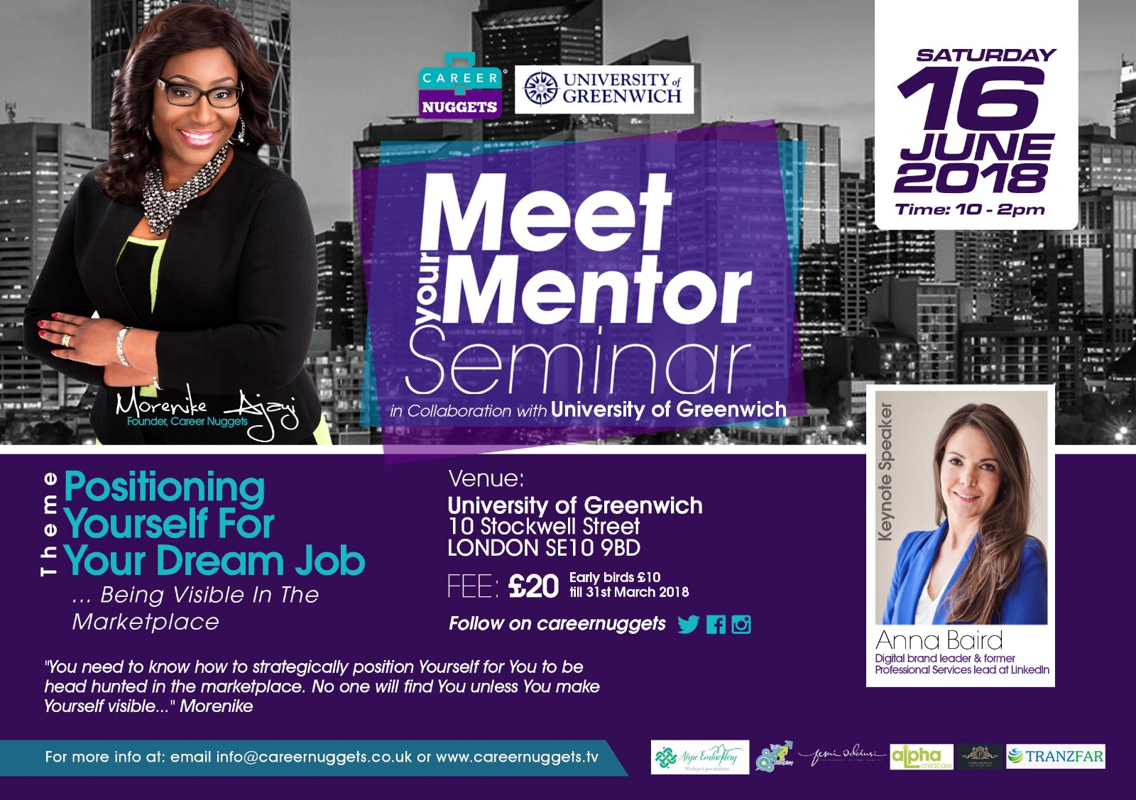 """Meet Your Mentor"" 2018 – Career Mentoring Seminar 16th June 2018"