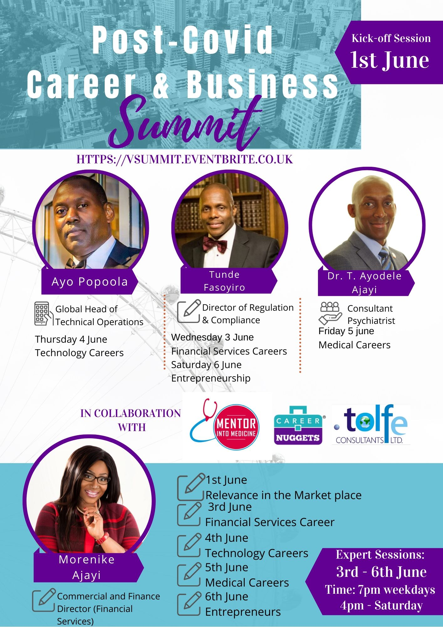 Virtual Summit – Post-Covid Career and Business Opportunities